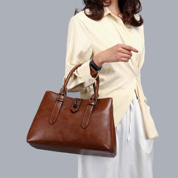 Leather Casual Tote Belt Bag Luxury Handbags Women Bags