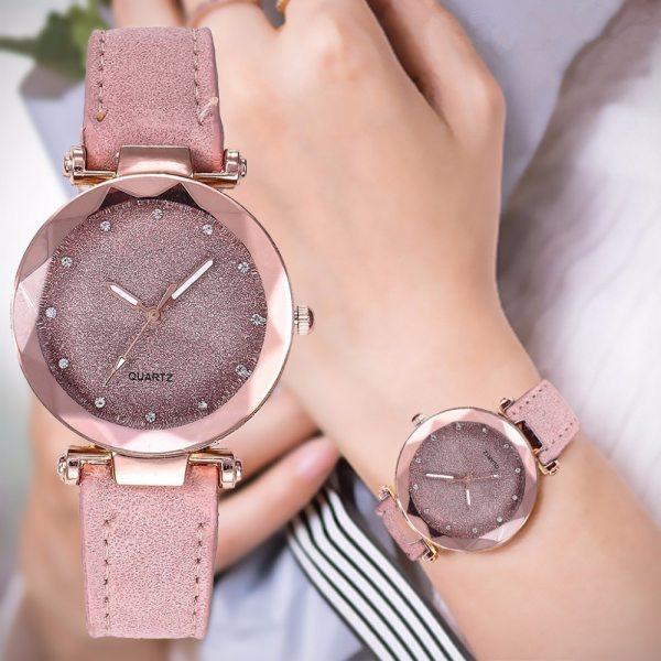Ladies fashion Rose Gold Quartz Watch Female Belt Watch