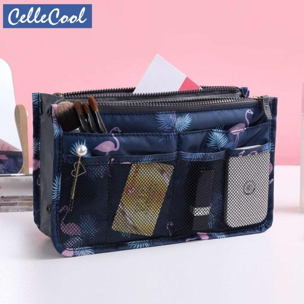 Travel Make up bag Organizer Handbag Organizer Insert Bag Women