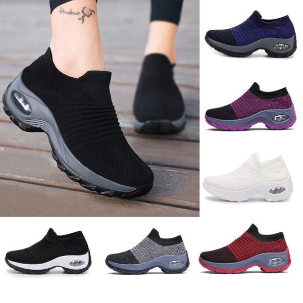 Women Tennis Shoes Breathable Mesh Outdoor Women Sneakers