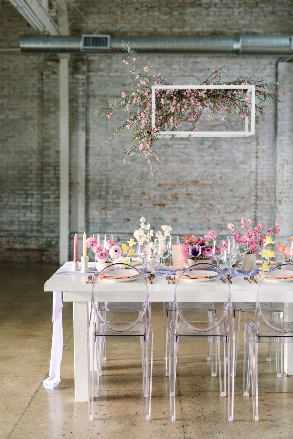 Springtime tablescape at HNYPT Los Angeles by Mary Costa Photography