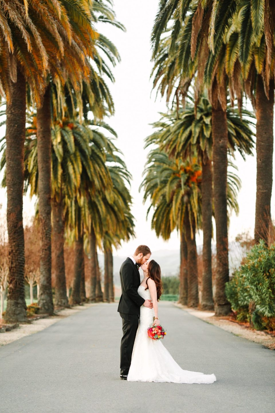 Wedding couple at Palm Event Center by Mary Costa Photography