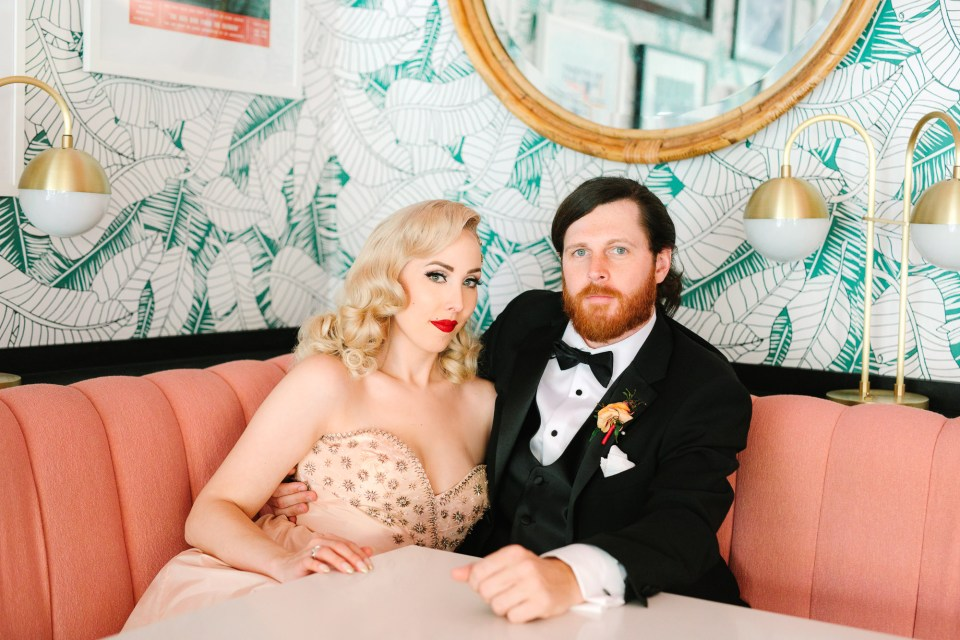 Stylish wedding portrait by Mary Costa Photography