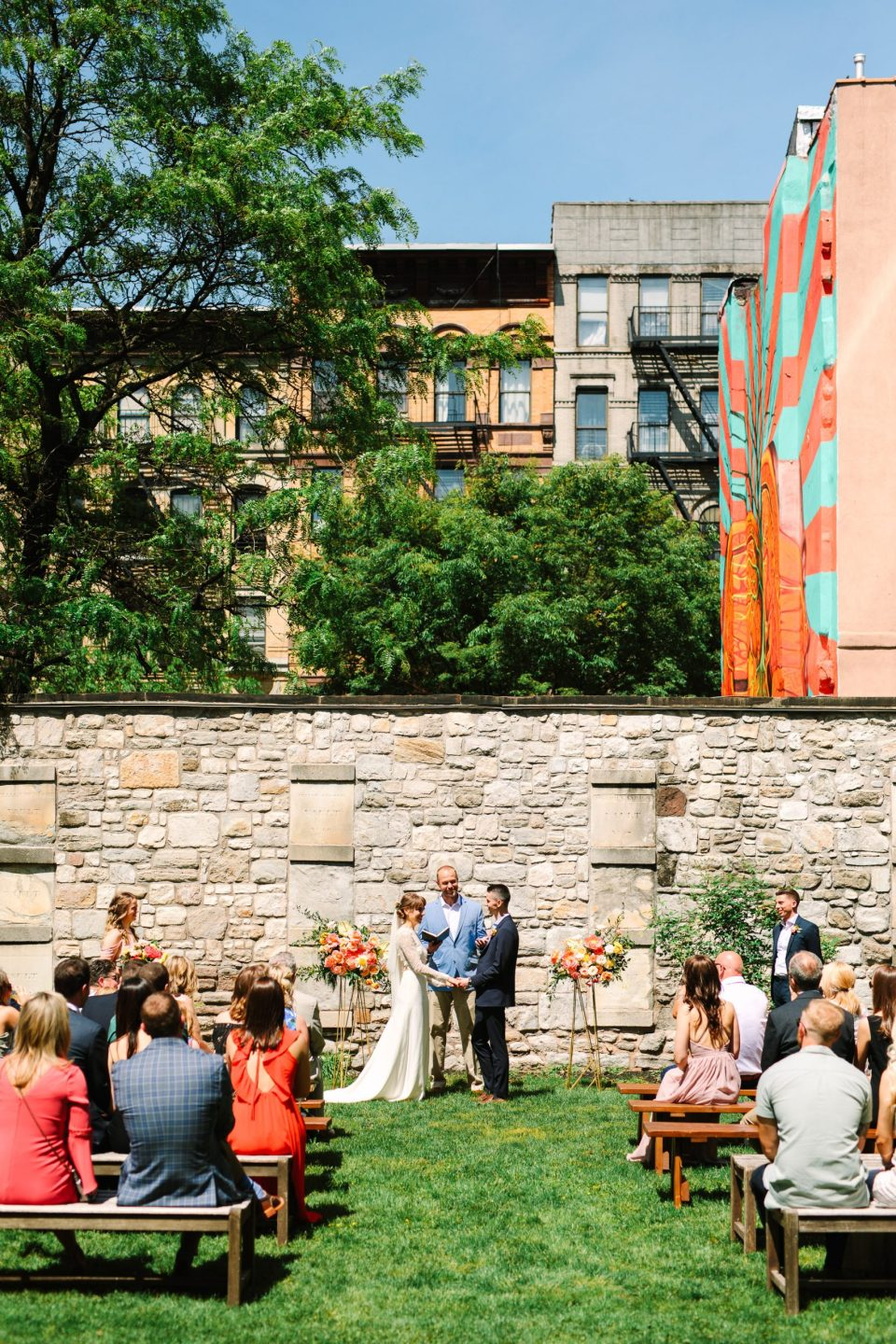 Wedding ceremony in NYC by Mary Costa Photography