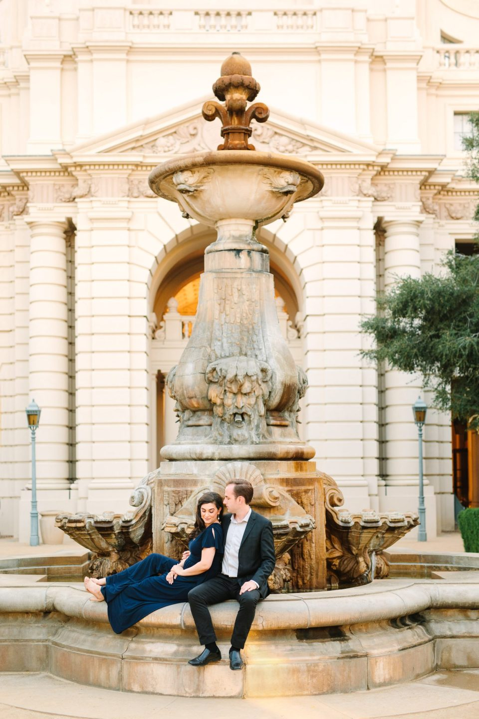 Pasadena Town Hall engagement session by Mary Costa Photography