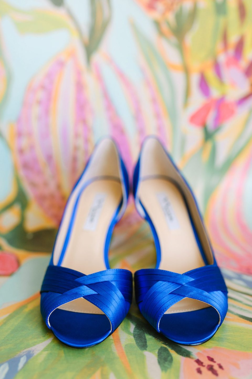 Blue bridal shoes www.marycostaweddings.com