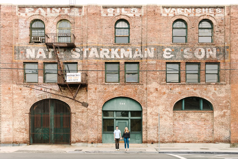Engagement session in DTLA Arts District Indian Fusion wedding at Fig House Los Angeles by Mary Costa Photography