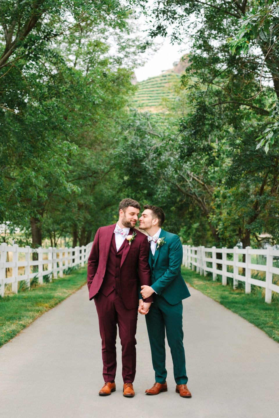 Two grooms by by Mary Costa Photography