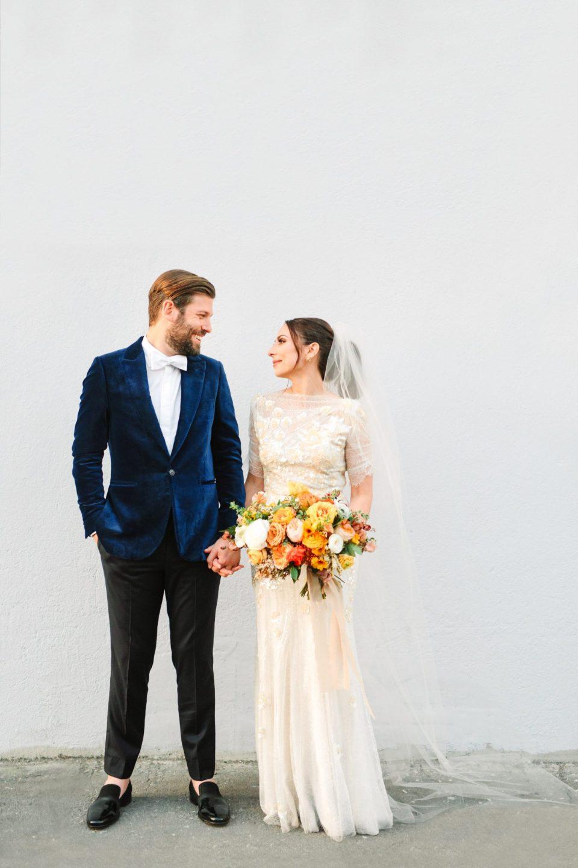 Stylish bride and groom www.marycostaweddings.com