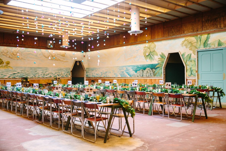 Reception in Sunset Dining Room at Valentine Los Angeles - www.marycostaweddings.com