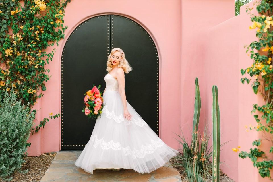 Bride twirling at Sands Hotel & Spa www.marycostaweddings.com