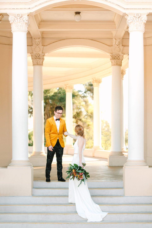 Bride and groom in San Diego - www.marycostaweddings.com