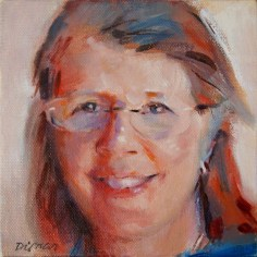 "Portrait of Nan, oil on canvas, 2015, 6"" x 6"""