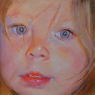 "Ultraviolet, 2, oil on board, 6"" x6""."