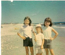 A happy summer day for the Cronin kids on Rockaway Beach
