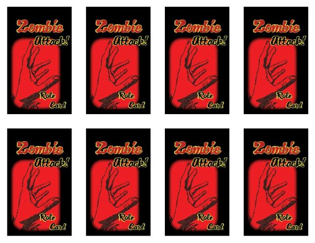 Zombie Attack Role Cards, made for museum disaster planning session at AASLH annual conference, by Mary Warner, 2014.