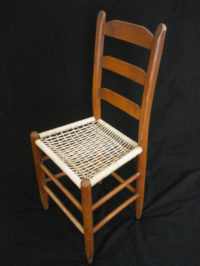 Ladder-back chair, photo by Mary Warner, February 2015.