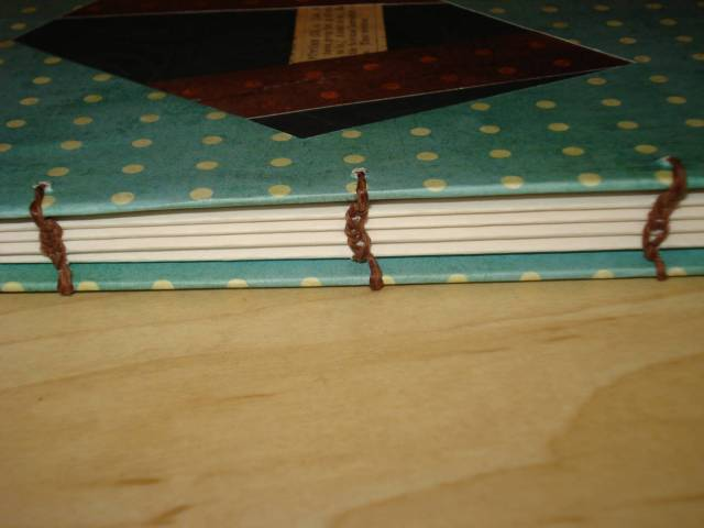 Coptic binding, handmade blank journal by Mary Warner, December 2015.