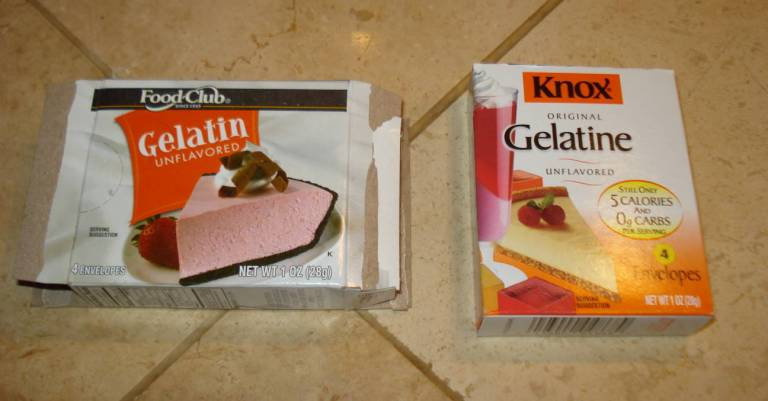 Food Club Gelatin and Knox Gelatine, 2016.