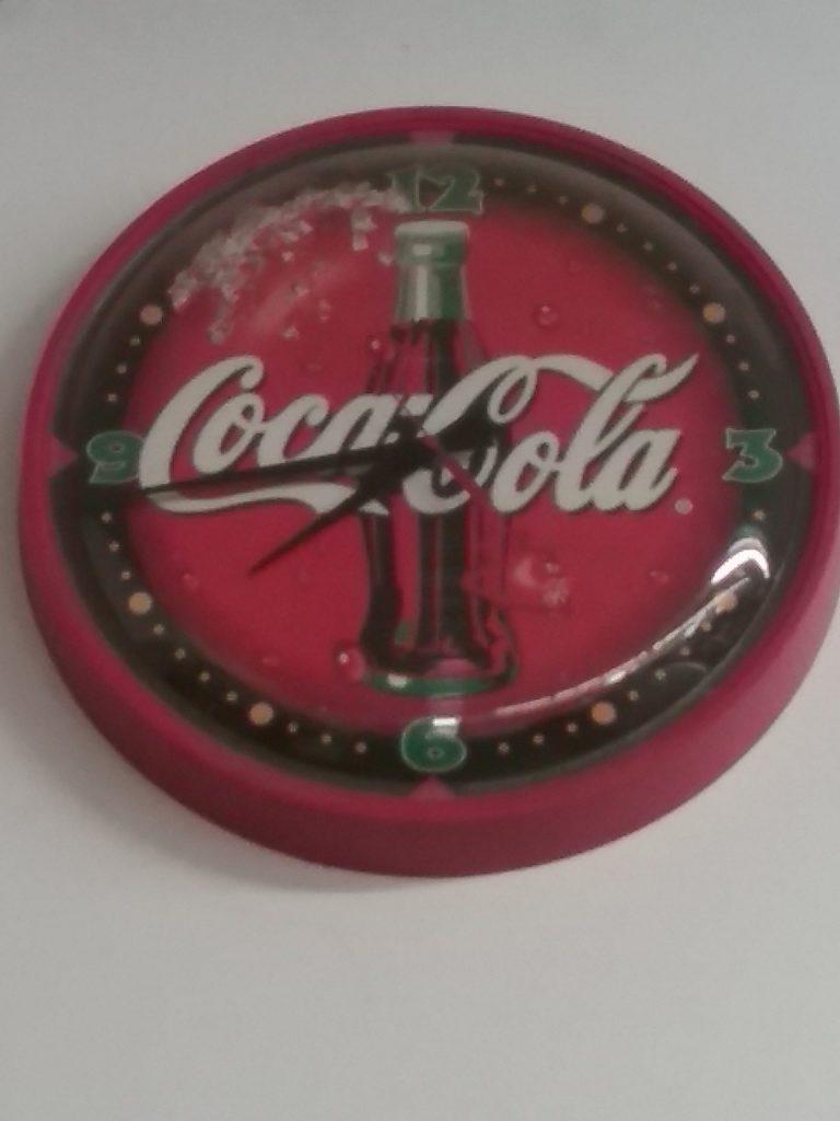 Coca-Cola clock at Dave Miller Auctions, Sauk Rapids, MN, 2018