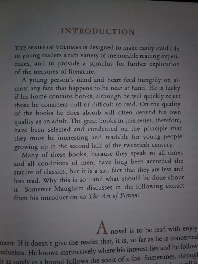 Introduction explaining why Reader's Digest creates condensed editions of books for children, Reader's Digest Best Loved Books for Young Readers, Volume 1, 1966/67.