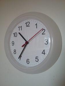 White clock, 2018.