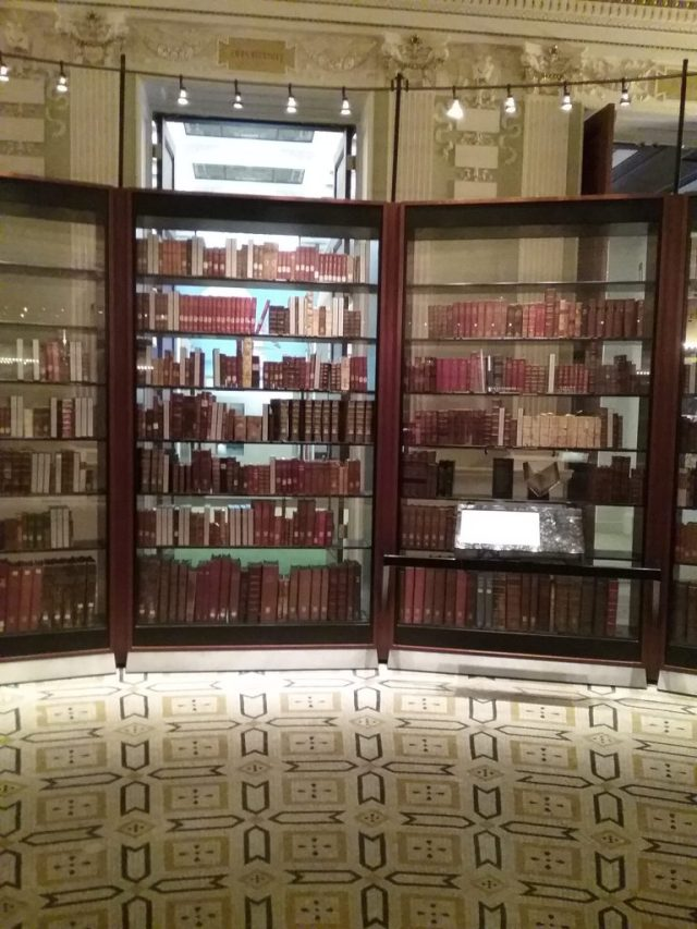 A section of the Jefferson Library, Library of Congress, Thomas Jefferson Building, Washington DC, 2019.
