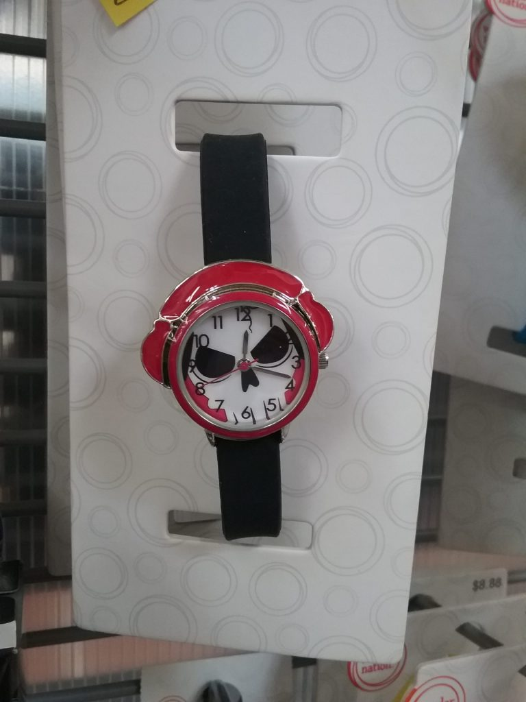 A wristwatch with a skull, 2019. Kinda looks like it's up to no good, doesn't it?