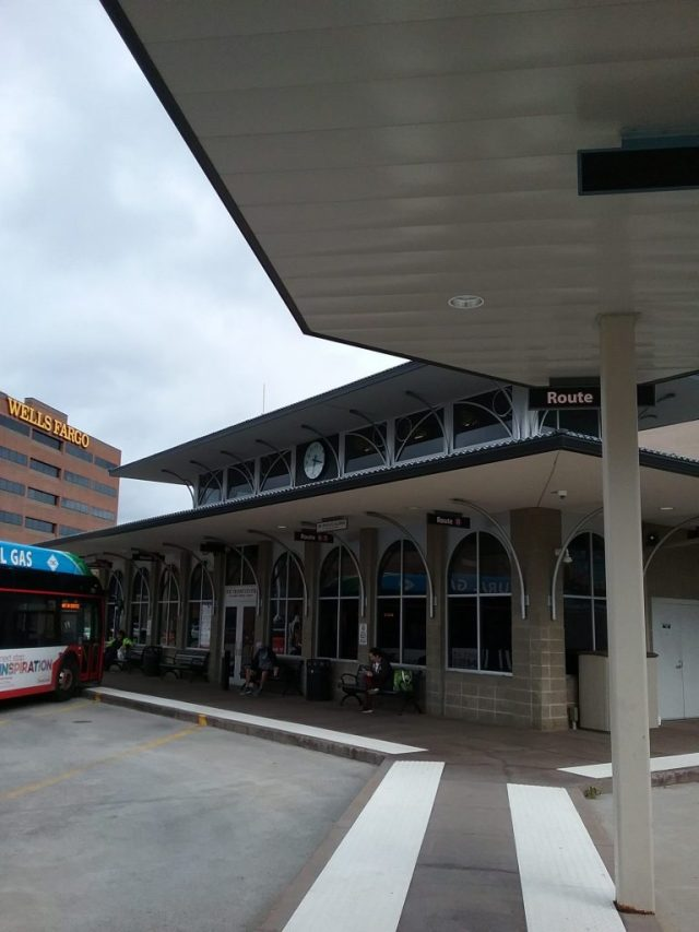 Metro Transit Station, downtown St. Cloud, MN, September 13, 2019. See the clock?