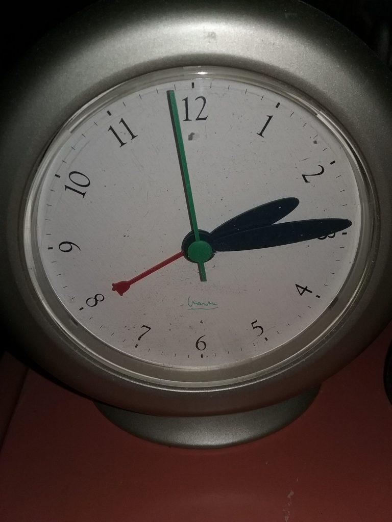Michael Graves silver clock, 2018.