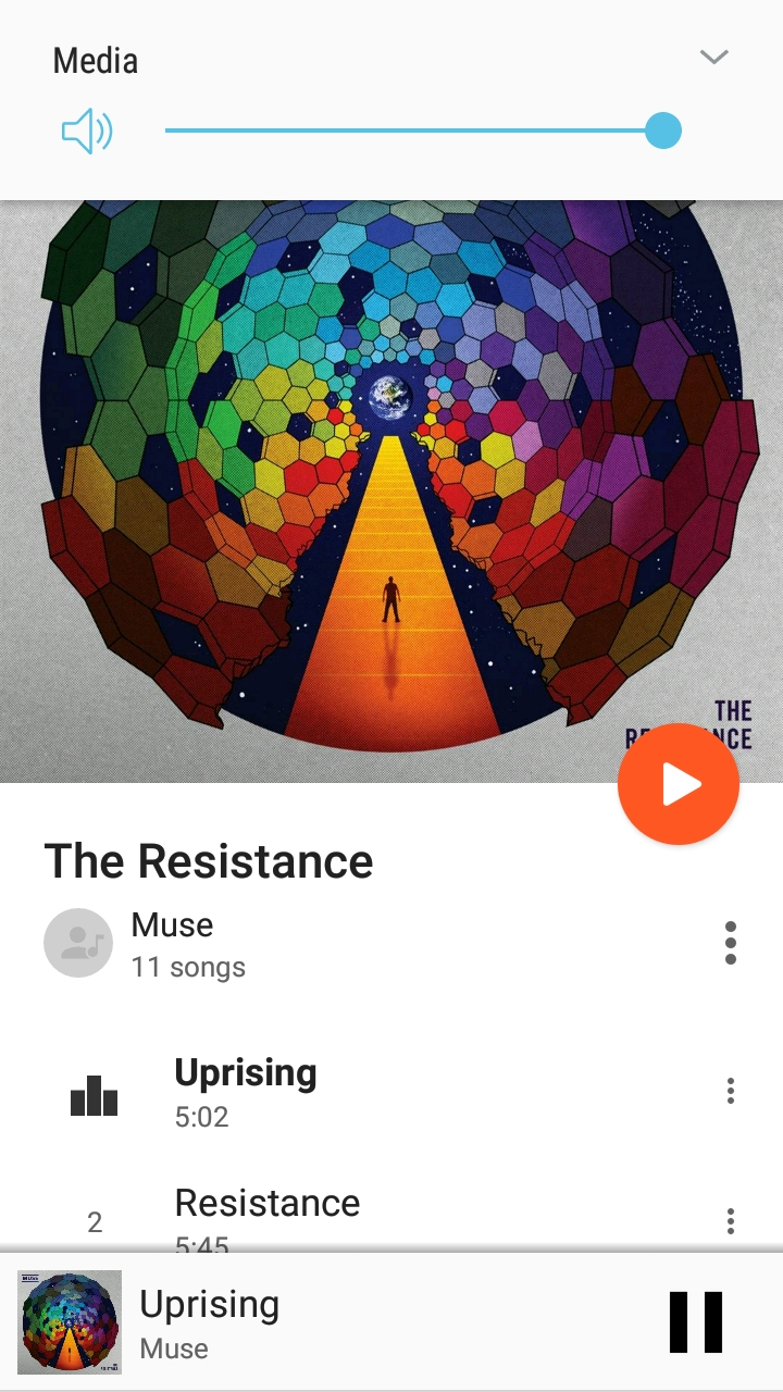 Google Play screenshot of The Resistance by Muse, 2020.