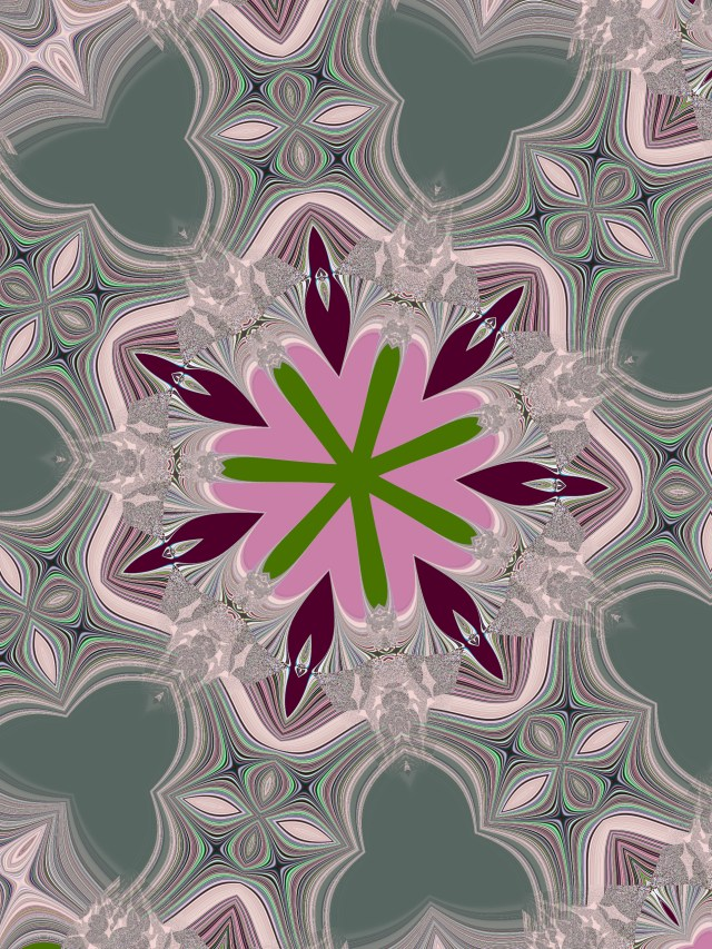Pink dahlia, iteration 14, by Mary Warner, August 2020.