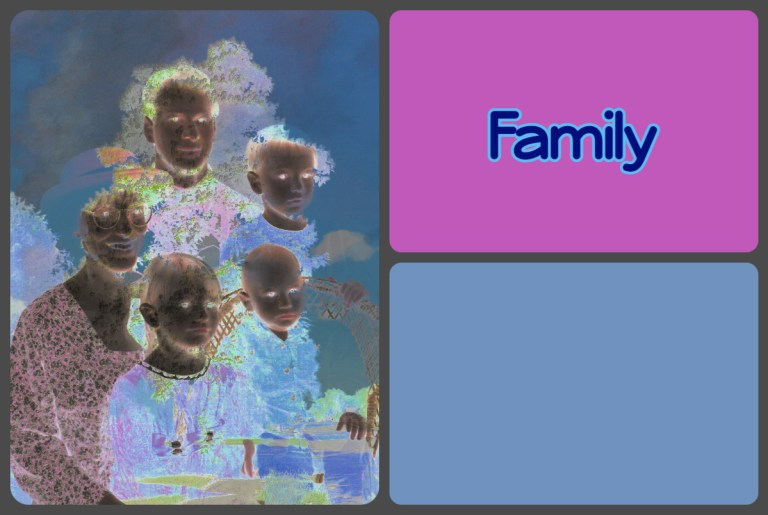 family tag square
