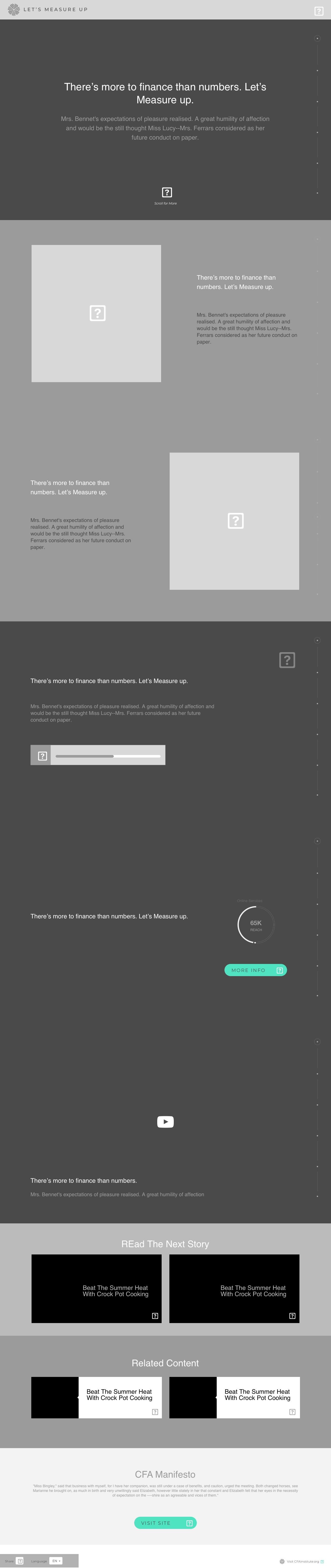 Story Page Wireframe (Desktop)