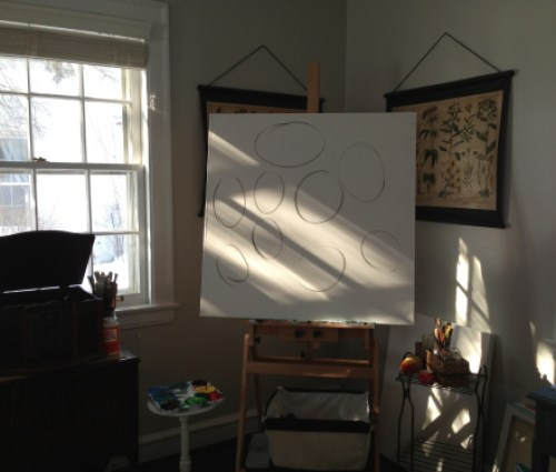 Peony canvas