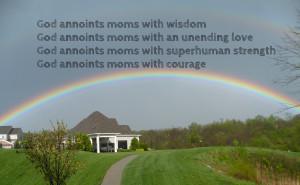 God annoints moms