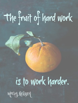 The Fruit of Hard Work