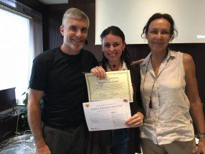 Con i miei formatori Nicola Riva e Lucia Giovannini