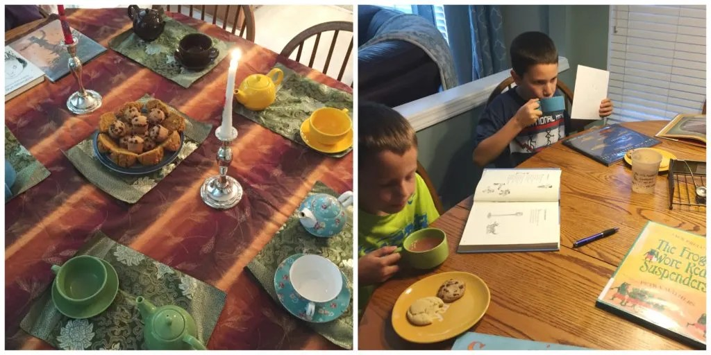 Host a simple or elegant poetry teatime with your family.