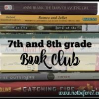 Literature List for Our 7th and 8th Grade Book Club