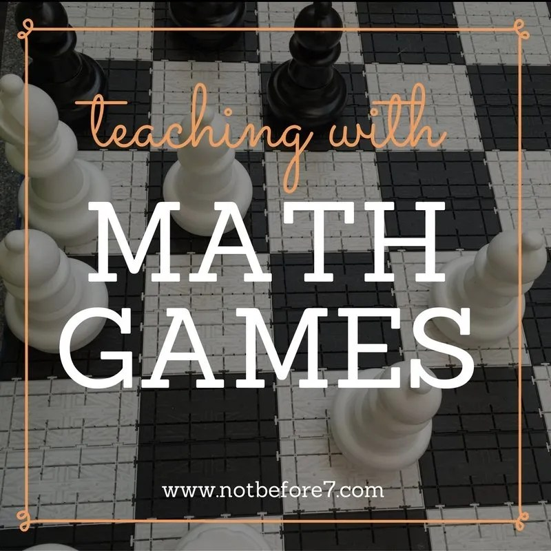 Teach with Math games. Here is a list of the games we love to use when it is time for a break from the workbooks!