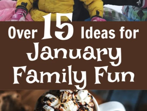 Over 15 ways you can have fun as a family in January!