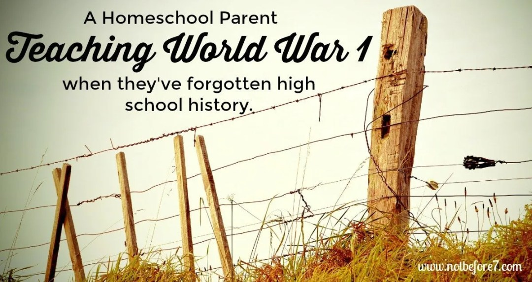 Ideas for teaching WW1 from a homeschool mom who forgot everything about it.