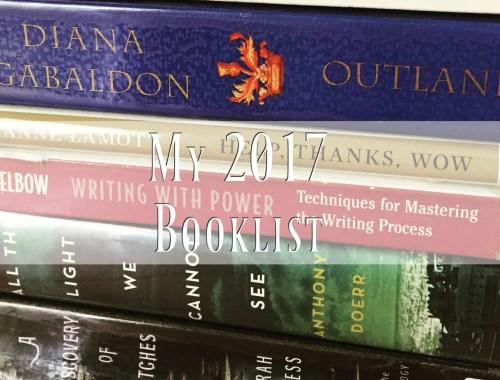 My 2017 booklist