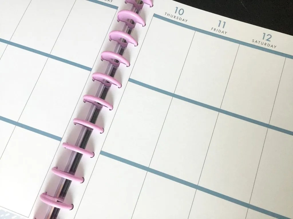 Using the Happy Planner as a life and homeschool planner in one.