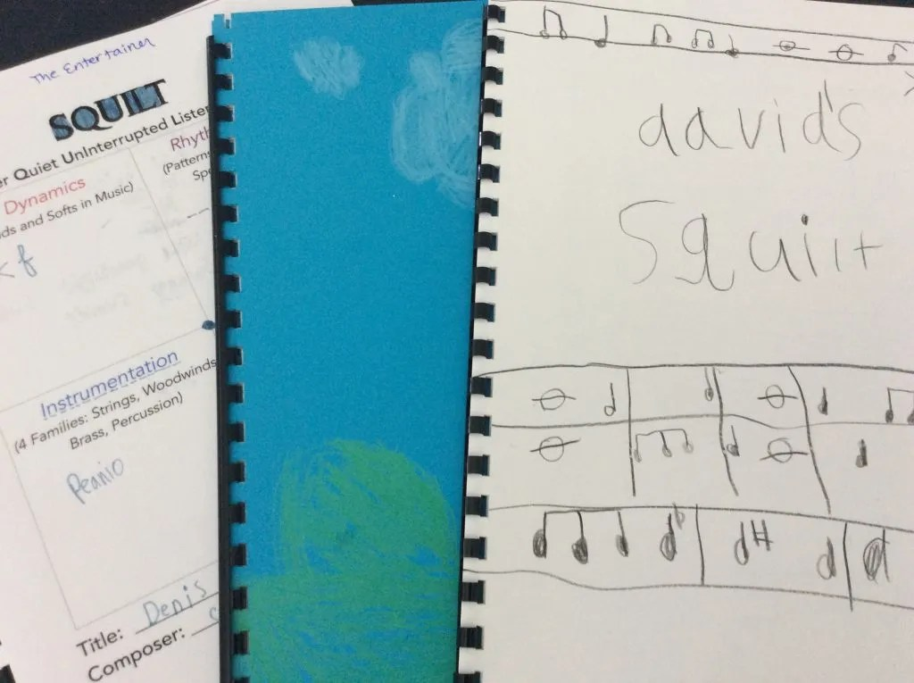 SQUILT music guides review - See the contents of the student booklets I created.