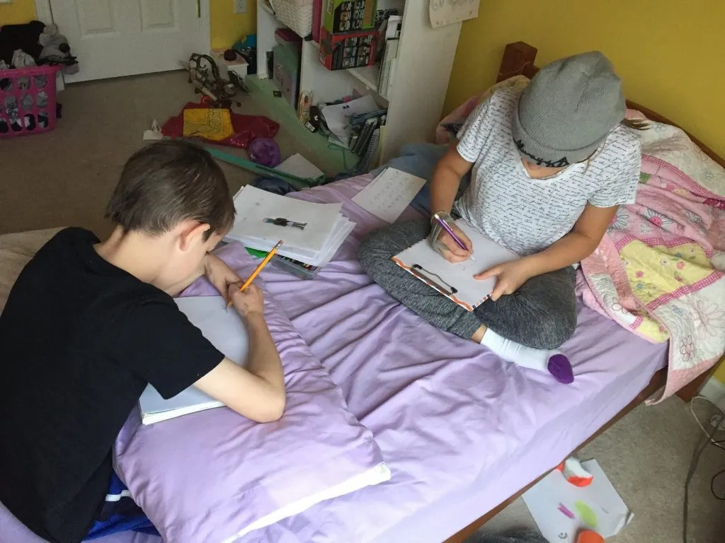 Homeschool Freedom allows your kids to do their work wherever they like.