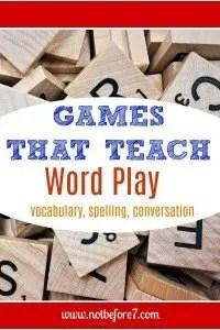 Games that Teach Word Play.