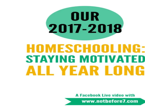 Let's talk about ideas for staying motivated all year long in your homeschool.