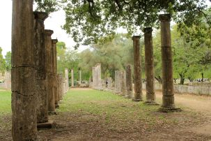 The palaestra at Ancient Olympia, where athletes trained before the games